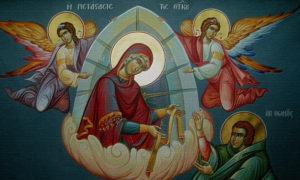 Положение пояса Пресвятой Богородицы служба село Семёновское Ярославская область Борисоглебский район
