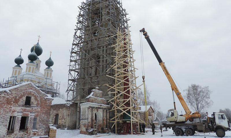 Сборка шпиля село Вёска Ярославская область