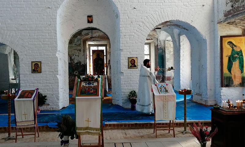 8 июня - служба в с. Марково Ярославская область